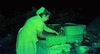 Προετοιμασία φωτιάς για μαγείρεμα