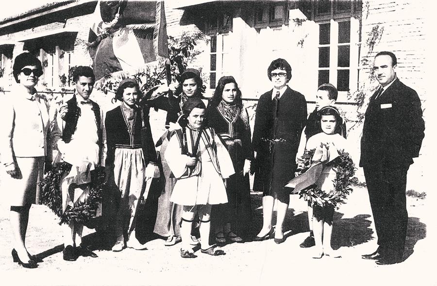 Έκτη τάξη Δημοτικού σχολείου Κολιρίου 1968